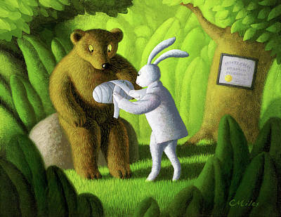 Wall Art - Painting - The Healer by Chris Miles