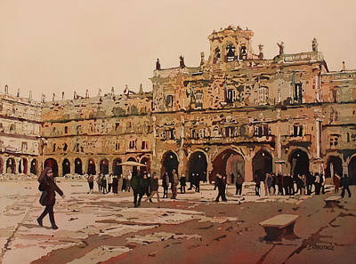 Painting - The Heart Of Salamanca by Jenny Armitage