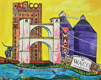 Painting - The Heart Of Waco by Patti Schermerhorn