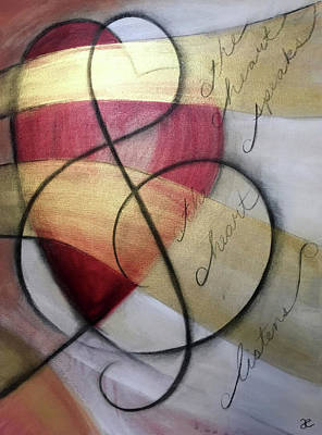 Painting - The Heart Speaks The Heart Listens by Anna Elkins
