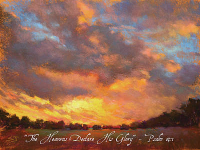 Painting - The Heavens Declare His Glory W/ Bible Verse by Susan Jenkins