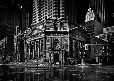 The Hockey Hall Of Fame Toronto Canada Reflection Art Print by Brian Carson