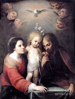 Photograph - The Holy Family by Gutierrez