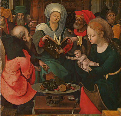 Painting - The Holy Kinship by Master of the Lille Adoration