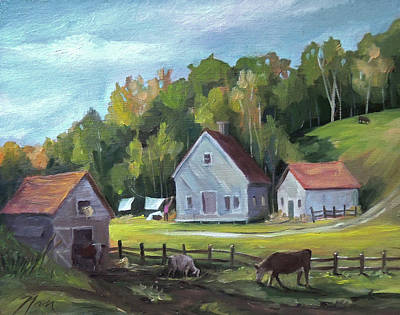 Painting - The Homestead by Nancy Griswold