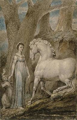 Painting - The Horse William Blake by Celestial Images