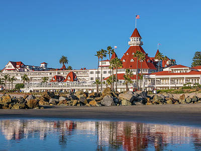 Robert Bellomy Royalty-Free and Rights-Managed Images - The Hotel del Coronado San Diego by Robert Bellomy