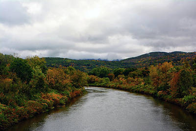 Photograph - The Housatonic River From A Bridge In Adams Ma by Raymond Salani III