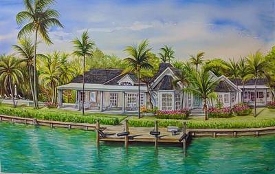 Painting - The House Near The Canal by Katerina Kovatcheva