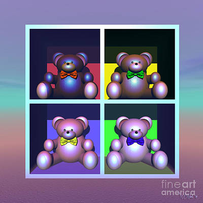 Digital Art - The House Of Bears by Walter Oliver Neal