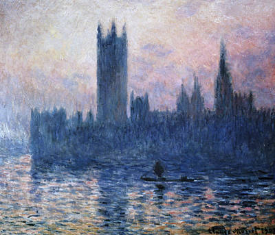Painting - The Houses Of Parliament At Sunset By by Superstock