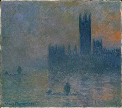 Fruits And Vegetables Still Life - The Houses of Parliament Effect of Fog 1903 04 by Claude Monet