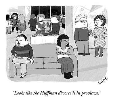 Drawing - The Huffman Divorce by Lars Kenseth