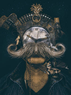 Steampunk Royalty-Free and Rights-Managed Images - The human clock by Mihaela Pater