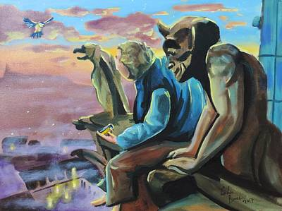 Painting - the Hunchback of Notre Dame by Gordon Bruce