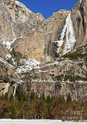 Beers On Tap - The iconic Yosemite Falls in the winter. by Jamie Pham