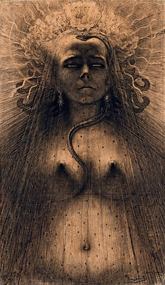 Gorgon Wall Art - Painting - The Idol Of Perversity, 1891 by Jean Delville