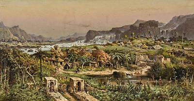 Painting - The Iguazu Waterfalls, Brazil by Henri Langerock