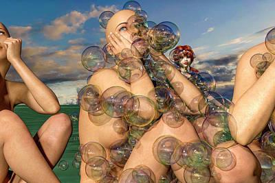 Surrealism Digital Art - The Imagination of Rain by Betsy Knapp