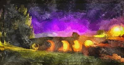 Digital Art - The Irish Bridge by Mario Carini