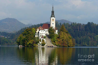 Photograph - The Island Church - Lake Bled by Phil Banks