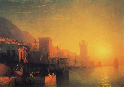 Painting - The Island Of Rhodes by Ivan Constantinovich Aivazovsky