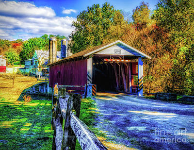 Photograph - The Jackson's Sawmill Covered Bridge by Nick Zelinsky