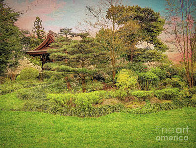 Photograph - The Japanese Landscape - Kew Gardens - Painterly by Leigh Kemp
