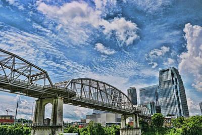 Photograph - The  John Seigenthaler Pedestrian Bridge # 3 - Nashville by Allen Beatty