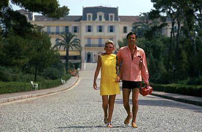 Dress Photograph - The Jourdans by Slim Aarons
