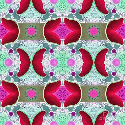 Painting - The Joy Of Design 52 Arrangement 4 Inverted And Altered by Helena Tiainen