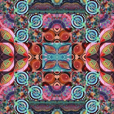 Mixed Media - The Joy Of Design Mandala Series Puzzle 7 Arrangement 5 by Helena Tiainen