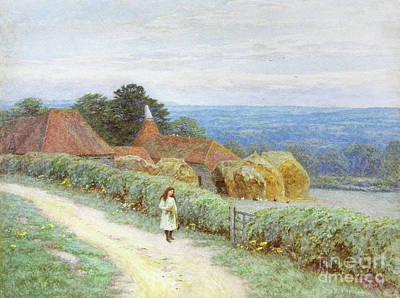 Painting - The Kentish Farmhouse At Crockham Hill  by Helen Allingham