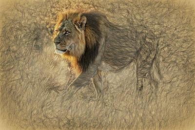 The King Stalks Art Print