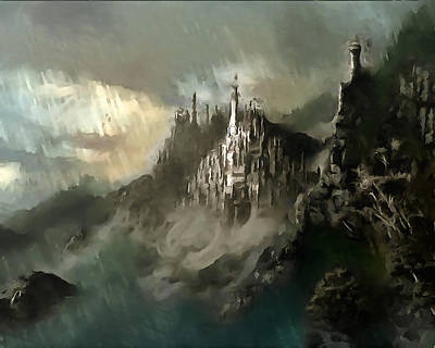 Digital Art - The Kingdom Of Minas Tirith by Mario Carini