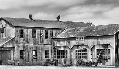 Photograph - The Kirkpatrick Cotton Gin Black And White by JC Findley