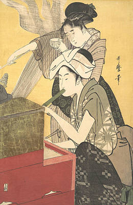 Relief - The Kitchen by Kitagawa Utamaro