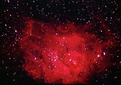 Photograph - The Lagoon Nebula In Sagittarius by A. V. Ley