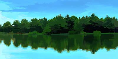 Digital Art - The Lake by Jason Fink