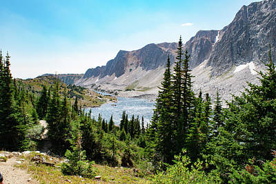 Photograph - The Lakes Of Medicine Bow Peak by Nicole Lloyd