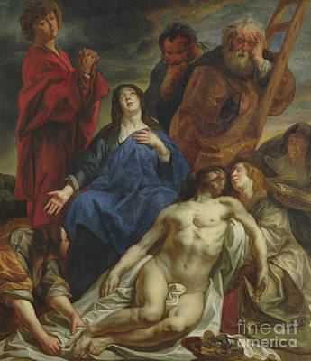 Painting - The Lamentation, Circa 1650 By Jacob Jordaens by Jacob Jordaens