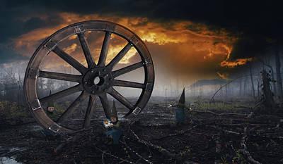 Surrealism Digital Art - The last flower by Mihaela Pater