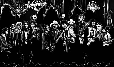 Neil Young Wall Art - Painting - The Last Waltz  by Melissa O'Brien