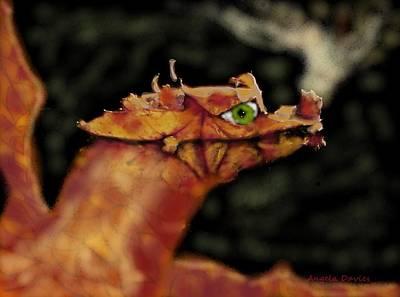 Digital Art - The Leaf Dragon by Angela Davies