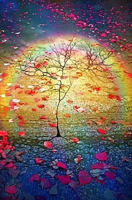 Digital Art - The Leaf Storm by Tara Turner