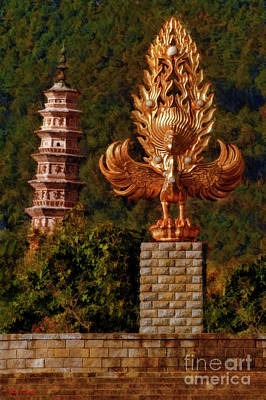 Photograph - The Leaning Left Pagoda Of The Chongsheng Temple by Blake Richards