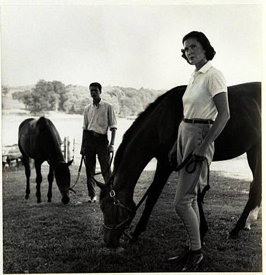 Photograph - The Ledyards, Riding by Toni Frissell
