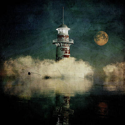 Design Pics - The Lighthouse In The Blue Mist by Jan Keteleer