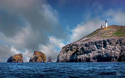 Photograph - The Lighthouse On Anacapa Island by Endre Balogh
