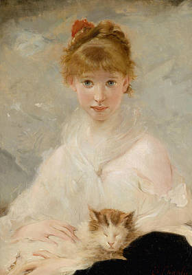 Painting - The Little Darling by Charles Joshua Chaplin